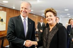 U.S. Vice President Joe Biden and Brazilian President Dilma Rousseff in Brasília - May 31, 2013.