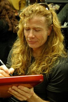 Dave Mustaine of Megadeth, photo by Stacy Arrington. i loved him the and i love him now
