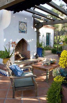Design Exterior, Patio Design, Garden Design, Landscape Design, Outdoor Rooms, Outdoor Living, Outdoor Decor, Pergola Patio, Backyard Patio
