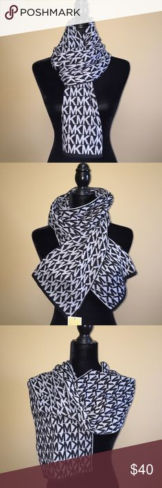 Michael Kors Signature Knit Scarf Black/Grey New! Michael Kors Knit Scarf   STYLE: 535338C  COLOR: Black/Grey  Authentic Michael Kors signature scarf in a black and heather grey acrylic knit.  Measurements  Approx 74 inches in length.  Approx 10 inches in width.  Retail price $58.00  Matching gloves are available in separate listing. New with tags! Michael Kors Accessories Scarves & Wraps