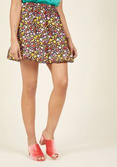 7e2607611 Compania Fantastica Some Fruit for Thought Mini Skirt in L - Full Skirt  Short Length by