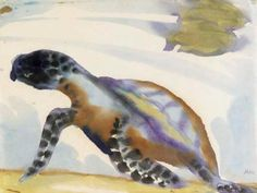 Turtle by Emile Nolde (1867-1956, Germany)