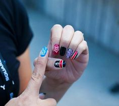 video game nail art mass effect