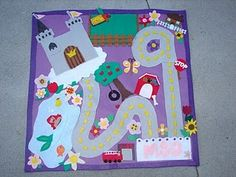 roll up play mats (for girl and boy) tutorial Omg! Instead of cars for girls I'll just do peg people and buy my little pony for C!