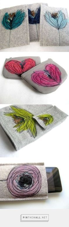 Discover thousands of images about DIY pouches . Freehand Machine Embroidery, Free Motion Embroidery, Simple Embroidery, Free Machine Embroidery, Free Motion Quilting, Embroidery Applique, Embroidery Stitches, Embroidery Patterns, Sewing Patterns