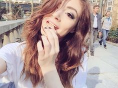 Designer Clothes, Shoes & Bags for Women Chrissy Constanza, Beauty Tutorials, American Singers, Cute Girls, Love Her, Celebs, Long Hair Styles, Beautiful, Bands