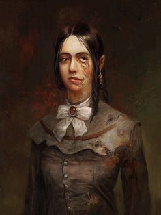 destroywhatdestroysyou-dwdy:     Layers of Fear portraits of wife by Andrzej Dybowski