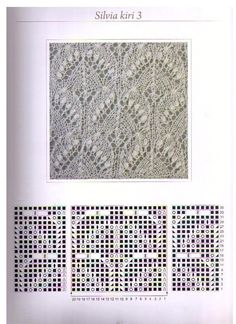 Estonian lace stitch pattern