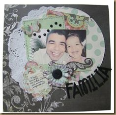 Scrapbook page. My Family