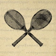 "Printable Tennis Racquets Digital Download Tennis Racket Graphic Image Antique Clip Art Jpg Png Eps 18x18 HQ 300dpi No.1451 @ <a href=""http://vintageretroantique.etsy.com"" rel=""nofollow"" target=""_blank"">vintageretroantiq...</a>"