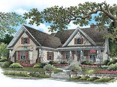 Eplans Country House Plan - Charming Country-style Home - 2051 Square Feet and 4 Bedrooms from Eplans - House Plan Code HWEPL14034
