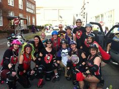 Red Stick Roller Derby getting ready to skate the parade! Where it all started