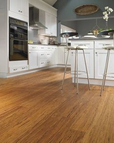 Bamboo flooring - great for the environment and looks great, too.