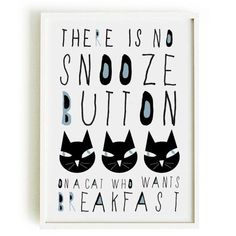 CAT quote poster-cat poster cat shop art print by nicemiceforyou #CatQuotes
