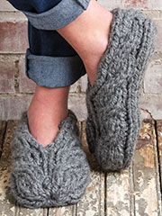 Chunky Cable Slippers (Knit and Crochet Now! Season 5, Episode 508)