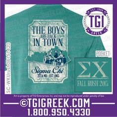 TGI Greek - Sigma Chi - Recruitment - Greek T-shirt #tgigreek #sigmachi