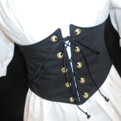 Waist Cincher in Black - Renaissance Faire Garb, SCA, LARP, Fairy Costume…