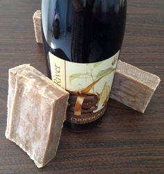 Chocolate wine soap cold process soap vegan soap  Idea: using some wine in soap recipe