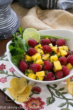 Mango Raspberry Salsa | Healthy, vibrant and DELICIOUS!