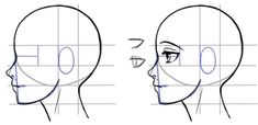 How to draw the side of a face