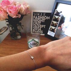 Bracelet #Swarovski #silver #bijou #bougie #myjoliecandle #flower