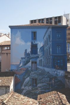 Legends and Traditions of Old Poitou-Charentes Travel in France Amazing Street Art, 3d Street Art, Street Art Graffiti, Wall Street, Poitou Charentes France, Dazzle Camouflage, Art Mur, Street Installation, Belle Villa