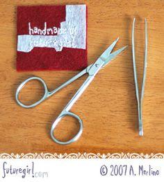 futuregirl craft blog : Tutorial: Embroidery On Felt