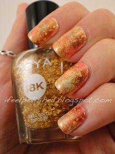 Zoya Gilty - Fall Nails I have to try that. Creative Nail Designs, Fall Nail Designs, Beautiful Nail Designs, Creative Nails, Fall Nail Art, Fall Nails, Holiday Nails, Pedicure Nail Art, Mani Pedi