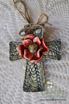 Handbuilt Pottery Cross