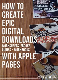 A free webinar on How To Create Epic Digital Downloads with Apple Pages (for you if you want to create eBooks, worksheets, workbooks, or printed books that you can sell or give away). #blogger #infopreneur