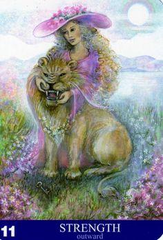 Albumarchiv - New Aura Soma Tarot Major Arcana Cards, Tarot Major Arcana, Strength Tarot, Tarot Learning, Occult Art, Divine Light, Tarot Spreads, Visionary Art, Sacred Art