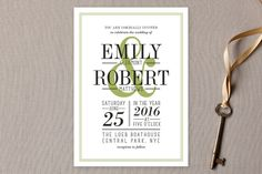 Wed in Type Wedding Invitations by Ariel Rutland at minted.com