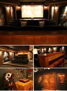 Cool home theater room