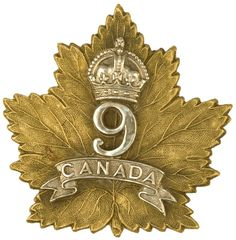 This is one of the many Maple Leaf motifs used by many different battalions. Canadian Army, Canadian History, Military Cap, Military Insignia, Scottish Army, Ww1 Posters, Army Uniform, Challenge Coins, Remembrance Day