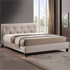 Looking for Baxton Studio Annette Linen Modern Bed Upholstered Headboard, Light Beige, x 57 x 81 ? Check out our picks for the Baxton Studio Annette Linen Modern Bed Upholstered Headboard, Light Beige, x 57 x 81 from the popular stores - all in one. Full Size Platform Bed, Modern Platform Bed, Bed Platform, Bed Slats, Upholstered Platform Bed, Tufted Bed, Headboards For Beds, Master Suite, Luxurious Bedrooms