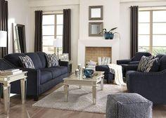 Klein 3pc Living Room Blue Was: $1,579.97           Sale: $999.99
