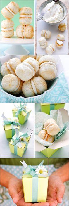 Coconut Balls with Lemon Coconut Creme