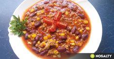 Gyors chilis bab recept képpel. Hozzávalók és az elkészítés részletes leírása. A gyors chilis bab elkészítési ideje: 30 perc Chili, Soup, Cooking, Kitchen, Chile, Soups, Chilis, Brewing, Cuisine