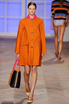 Tommy Hilfiger SS 2013 #orange #coat #fashion LOVE