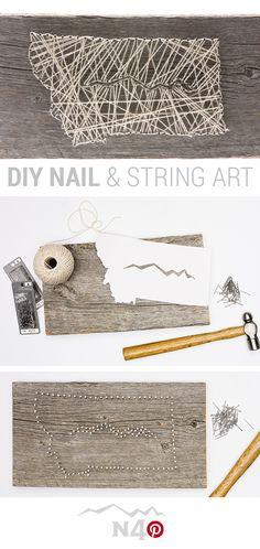 DIY Nail & String Art