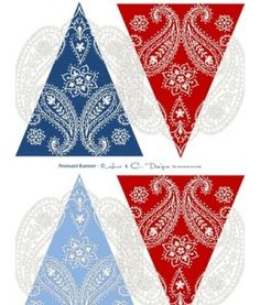 4th of July - Pennants