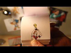 Incredible World Cup Goals Captured Via Hand-Drawn Flip Book