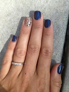 Nails gel, we adopt or not? - My Nails Blue Gel Nails, Fall Gel Nails, Gelish Nails, Fancy Nails, Pretty Nails, Uñas Jamberry, Hair And Nails, My Nails, Baby Shower Nails