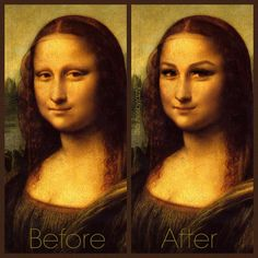 Lashes and Brows - Before and After - Mona Lisa - www.jazzylashco.com