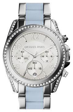 MICHAEL Michael Kors Michael Kors 'Blair' Crystal Bezel Two-Tone Bracelet Watch, 39mm available at #Nordstrom
