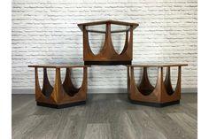 Set Of 3 G Plan Mid Century Vintage Fresco Teak Coffee Tables | Vinterior   #midcentury #modern #20thcentury