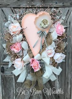 Here are the Rose Valentine Heart Decor Wreath. This article about Rose Valentine Heart Decor Wreath was posted under the … Valentines Art, Valentine Day Wreaths, Valentine Day Love, Holiday Wreaths, Printable Valentine, Homemade Valentines, Valentine Ideas, Holiday Decor, Heart Decorations