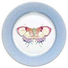 Mottahedeh Green Lace Butterfly Dessert Plate - such an elegant design! Would be beautiful on a mantel or on a bedside table in the guest room. Ceramic Plates, Porcelain Ceramics, Decorative Plates, Porcelain Jewelry, Dessert Design, Porcelain Black, Porcelain Skin, Porcelain Doll, Painted Porcelain