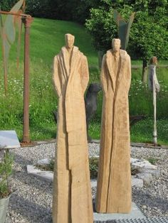 Stahl skulpturen kunst pinterest stahl skulptur und holz - Gartenskulpturen holz ...