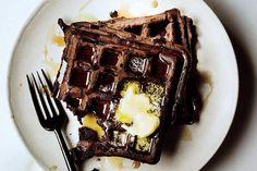 Dark Chocolate Waffles
